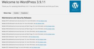 Bilde av utdatert WordPress versjon